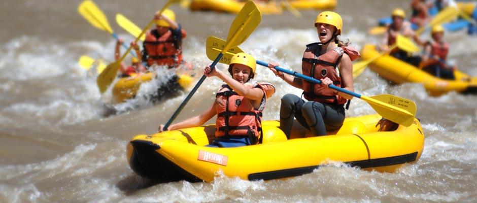Kids Having Fun on a Colorado River