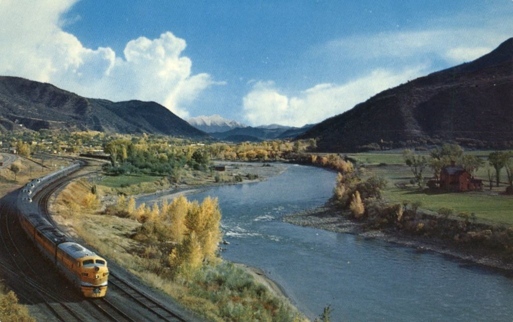 The river in western Colorado, with the California Zephyr running alongside.